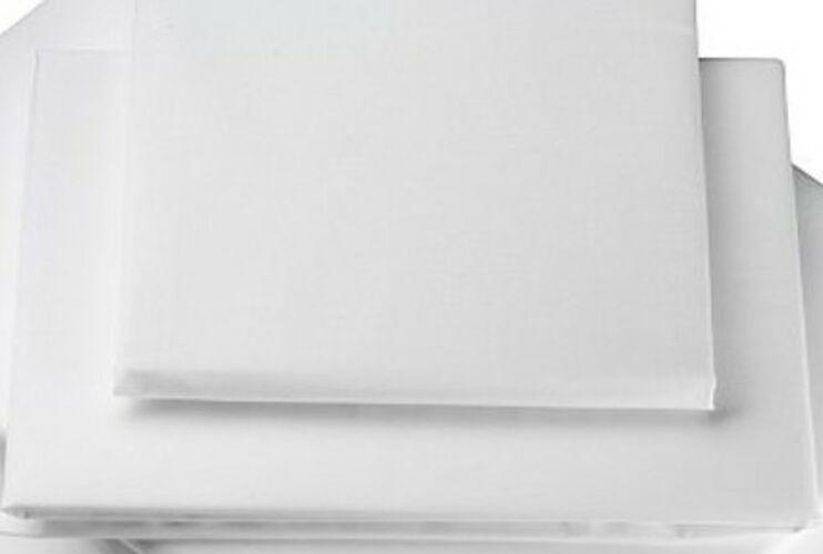 Image of Fehér pamutszatén kétszemélyes lepedő