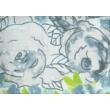 romantikus kék virágos ágyneműhuzat