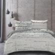 feliratos pamutszatén ágyneműhuzat