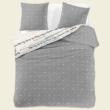 szürke pöttyös dupla pamutszatén ágyneműhuzat