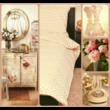 Romantikus rózsás pamutszatén dupla ágyneműhuzat