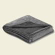 Kétoldalas sötét szürke steppelt ágytakaró (240*220 cm)