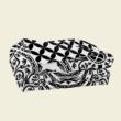 Fekete-fehér mandala steppelt ágytakaró franciaágyra (220x240)