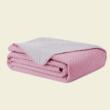 Rózsaszín steppelt kétoldalas ágytakaró egyszemélyes ágyra (170x210)