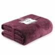 Laila sötét mályva színű egyszemélyes  ágytakaró 170x270cm