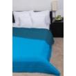 Türkiz kék kétoldalas steppelt ágytakaró