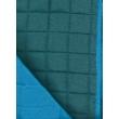 Türkiz kék kétoldalas steppelt ágytakaró mintája