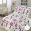 nyári virágos ágytakaró (260x240 cm)