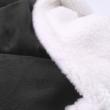 Fekete-fehér extra vastag pléd XL 150x200