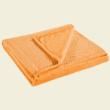 Narancsszínű puha egyszínű pöttyös ovispléd (70x150)