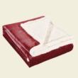 Piros-fehér extra vastag pléd XL 170x210