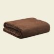barna geometerikus mintás ágytakaró pléd