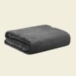 grafit szürke geometrikus mintás ágytakaró pléd
