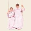 Rózsaszín gyerek belebújós pléd