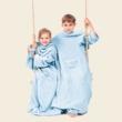 Világos kék gyerek belebújós pléd