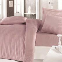 Fáradt rózsaszín csíkos  pamutszatén egyszemélyes ágyneműhuzat