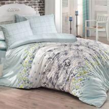 Romantikus kék virágos luxus pamut ágyneműhuzat
