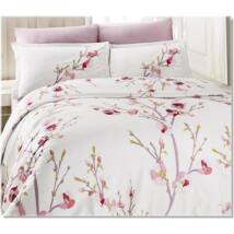 Rózsaszín tavasz pamutszatén kétszemélyes ágyneműhuzat
