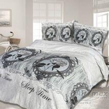 Vintage rózsás pamutszatén ágyneműhuzat