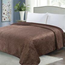 Kétoldalas csokibarna steppelt ágytakaró (200x220 cm)