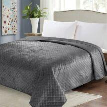 Kétoldalas sötét szürke steppelt ágytakaró (200*220 cm)