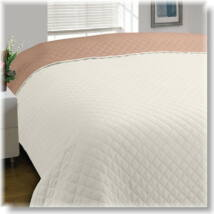 Kétoldalas bézs-ekrü steppelt ágytakaró (200*220cm)