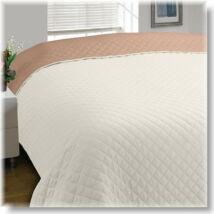 Kétoldalas bézs-ekrü steppelt ágytakaró (170x210 cm)