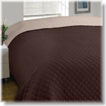 Kétoldalas kapucsino-csoki steppelt ágytakaró (170*210 cm)