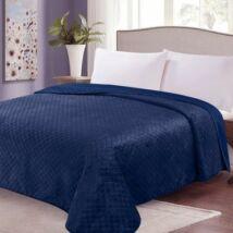 Kétoldalas acél kékr steppelt ágytakaró (200*220 cm)