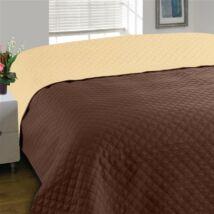 Kétoldalas barna steppelt ágytakaró (170*210 cm)