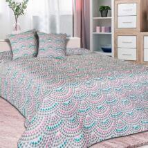 Fehér modern mintás dupla ágytakaró (200*220 cm)