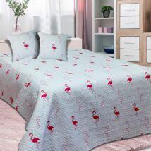 Flamingó mintás egyszemélyes ágytakaró (170*210 cm)