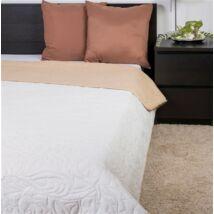 Bézs-ekrü kétoldalas ágytakaró 235x250cm