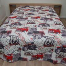 Route66  motoros ágytakaró francia ágyra