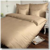 Bézs pamutszatén ágyneműhuzat