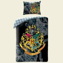 Harry Potter fekete-szürke pamut ágyneműhuzat