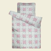 Rózsaszín patchwork steppelt ovis paplan párna szett