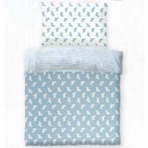 Kék kutyusos pamut gyerek ágyneműhuzat