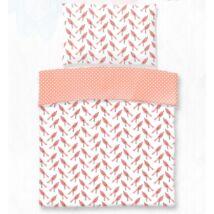 Rózsaszín madárkás pamut gyerek ágyneműhuzat