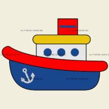 Hajó vasalható ovis jel csomag (10db)