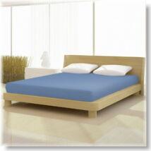 Közép kék 90x200 cm-től 100x200cm-ig basic pamut jersey gumis lepedő
