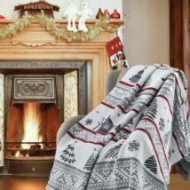 Szürke karácsonyi pléd