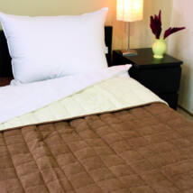 Bőrhatású kétoldalas dupla ágytakaró (235*250 cm)