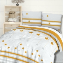 Sárga csillagos flanel ágyneműhuzat