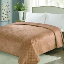 Kétoldalas világod barna steppelt ágytakaró (200*220 cm)