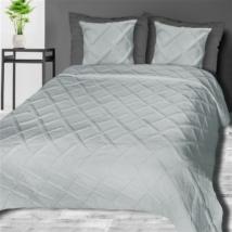 Dóra steppelt világosszürke pamut ágytakaró (200x220 cm)