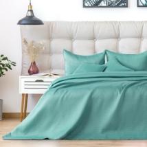 Világos türkiz egyszemélyes steppelt ágytakaró