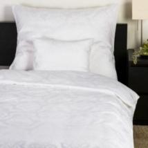 Fehér színű jacquard mintás damaszt  ágynemű