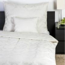 Gyöngyház színű jacquard mintás damaszt  ágynemű