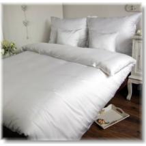 Fehér 3 részes pamutszatén ágyneműhuzat